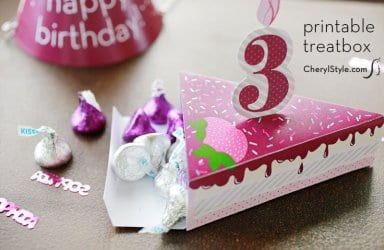 Printable Birthday Cake Boxes