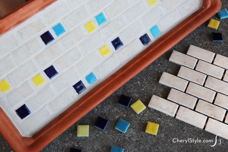 DIY #mosaic tile tray | instructions on CherylStyle.com
