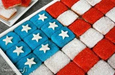 Easy flag cookie tray