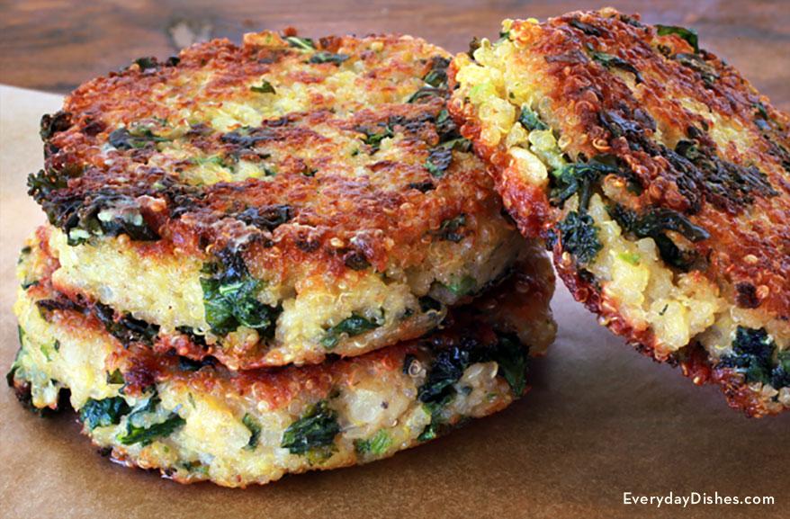 Kale and quinoa patties recipe