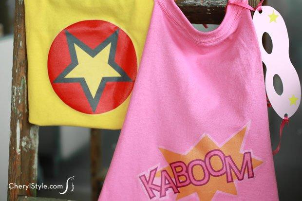 Make a DIY superhero cape out of a t-shirt!