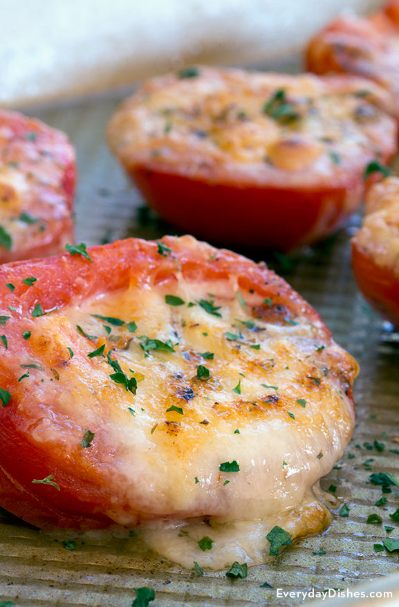 Grilled tomatoes with cheese recipe