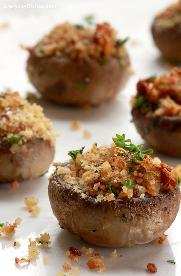 Vegetarian stuffed mushrooms recipe