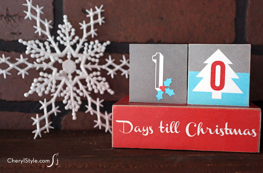 Easy-to-make wooden Christmas countdown blocks