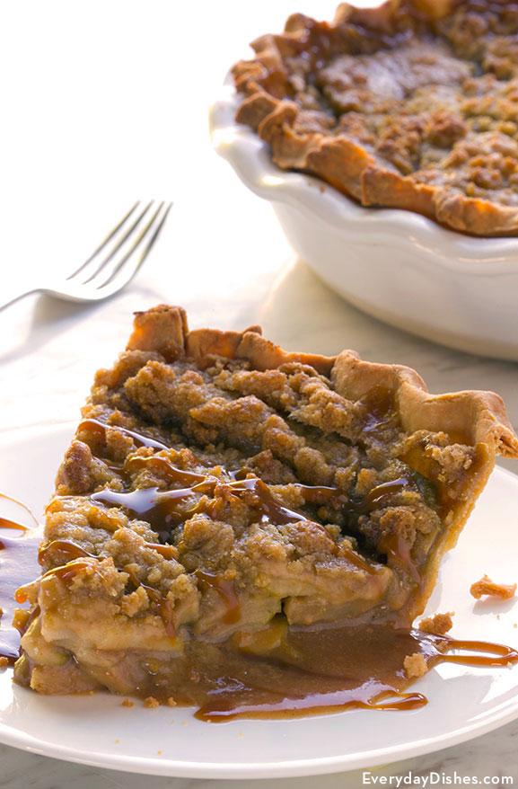 Caramel apple crumble pie recipe