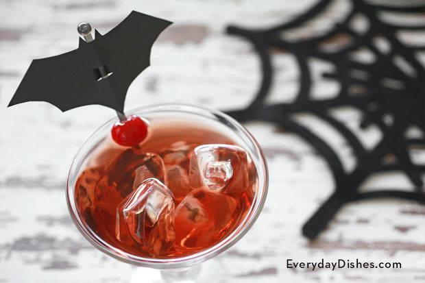 Halloween sour apple cocktail