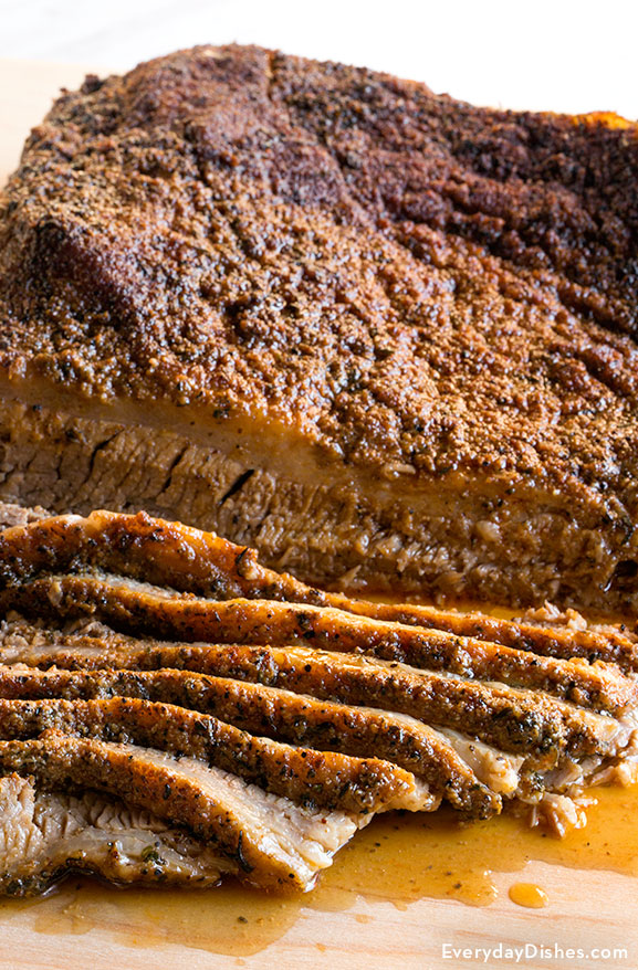 Oven-roasted beef brisket recipe