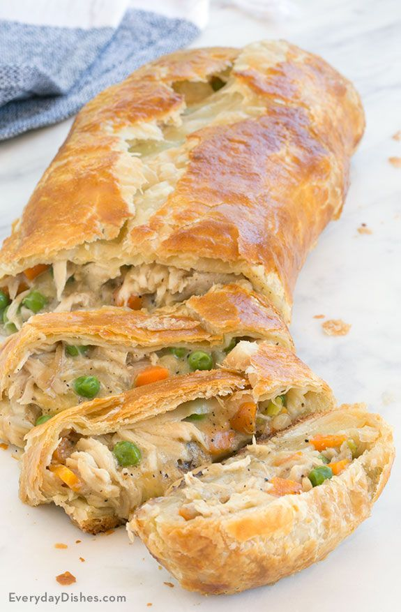 Leftover Turkey Pot Pie Stromboli Recipe