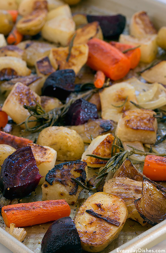 Roasted beets, carrots and potatoes recipe