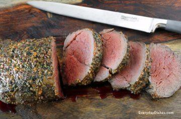 Juicy and tender beef tenderloin