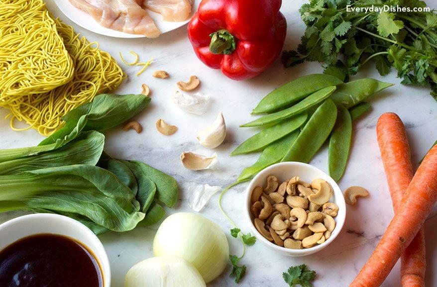 Chicken stir-fry with noodles recipe