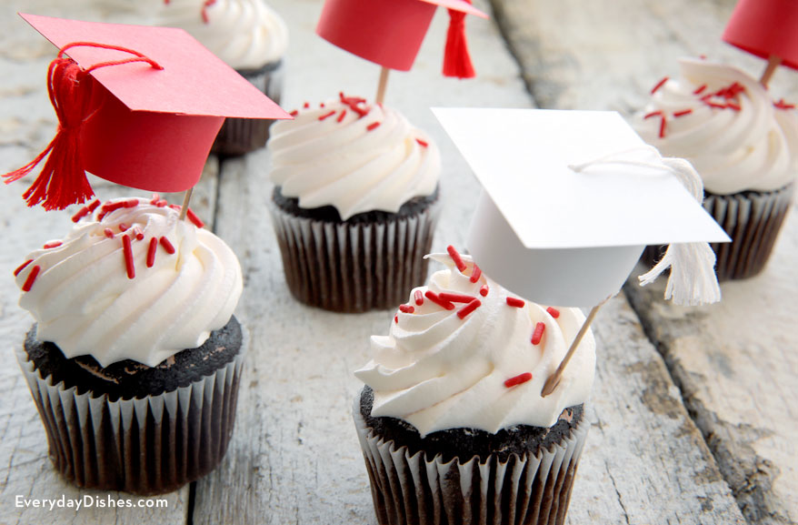 Graduation Cap Cupcake Toppers Instructions