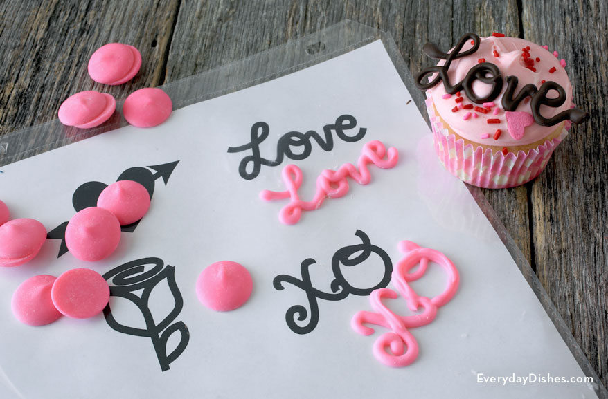 Cupcake Topper Template | Valentine Chocolate Cupcake Toppers Instructions