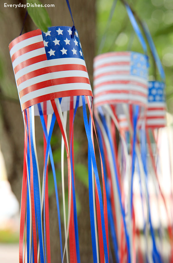 Patriotic windsock craft printable
