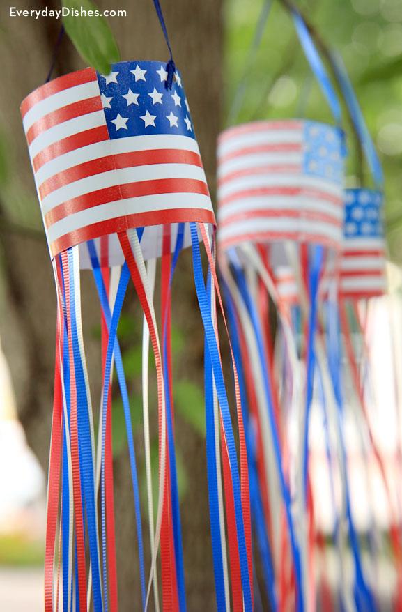 Patriotic windsock craft printable