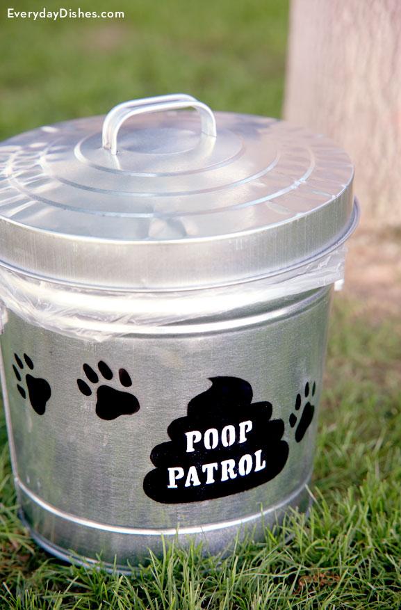 Poop patrol waste bucket craft