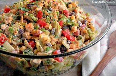 Tex-Mex chopped chicken salad recipe