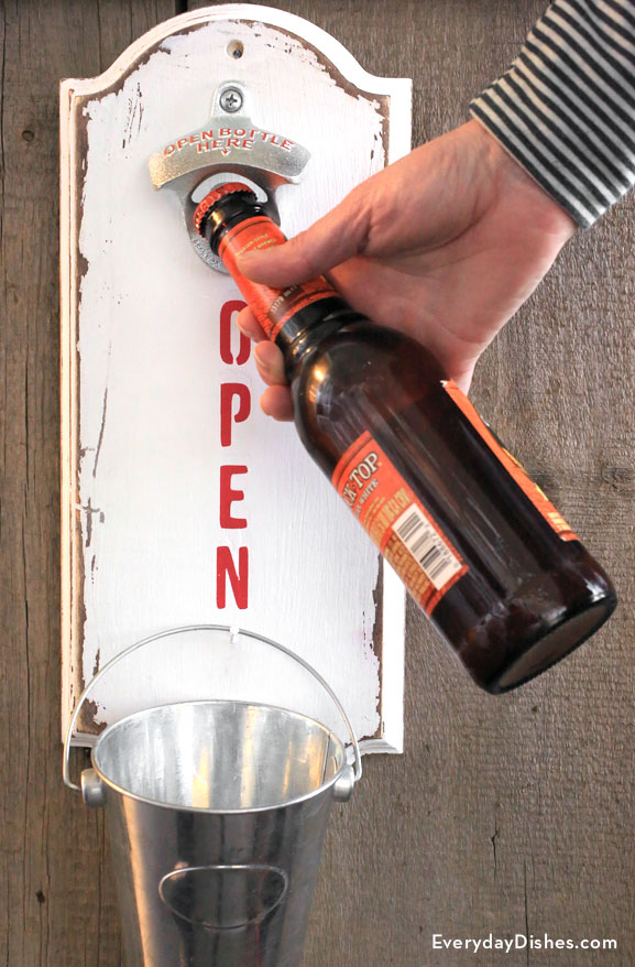How To Make A Wall Mounted Bottle Opener
