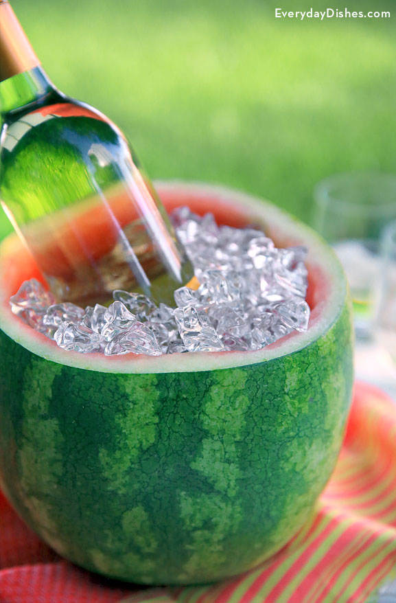 Watermelon ice bucket