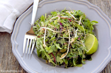 Baby arugula and sprout salad recipe