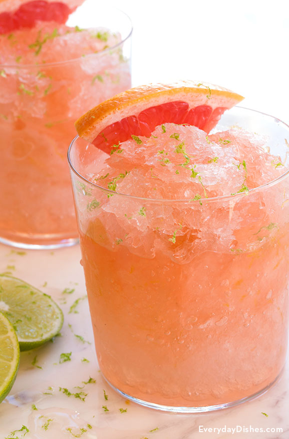 Pink grapefruit granita recipe