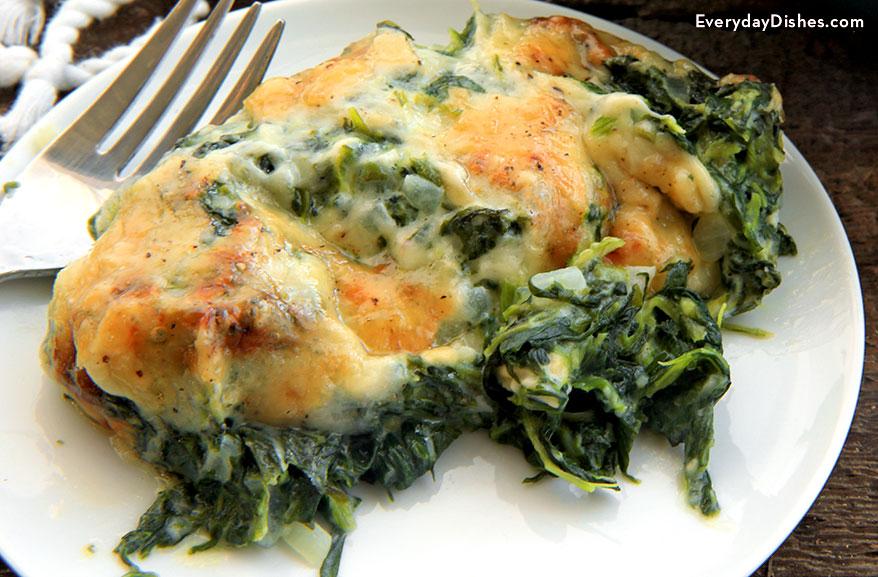 Spinach gratin recipe
