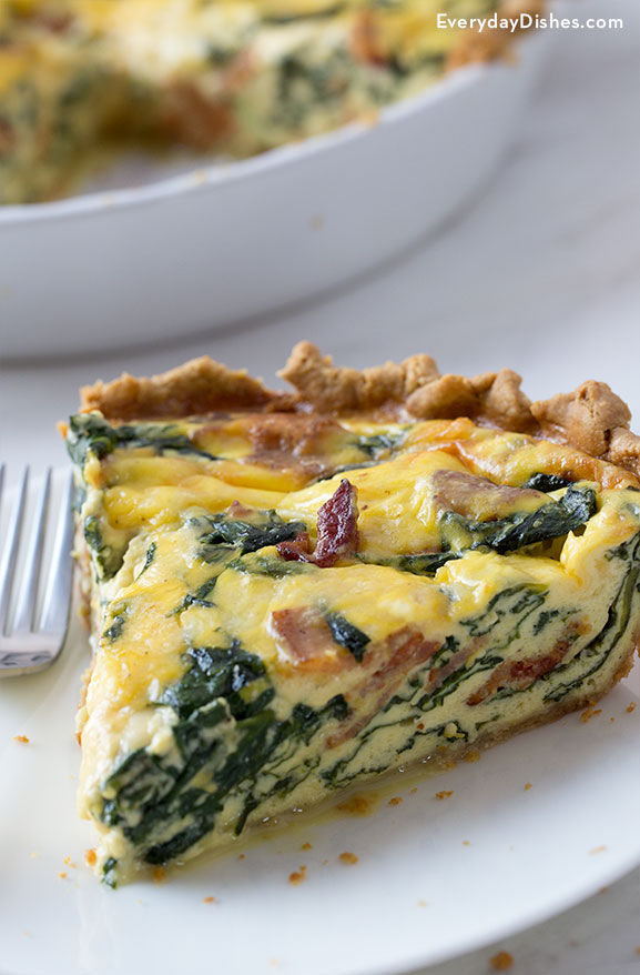 Bacon spinach quiche recipe