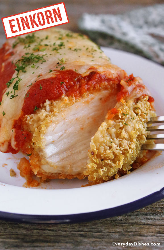 Einkorn quinoa chicken Parmesan recipe