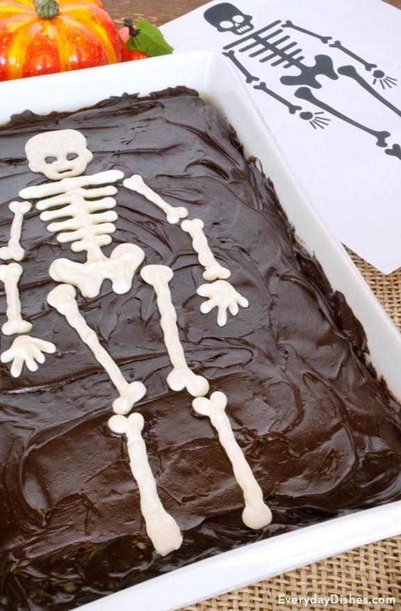 Sheet cake skeleton template