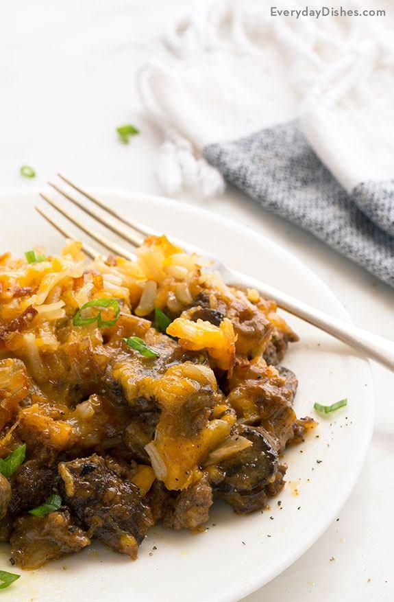 Hamburger Hash Brown Casserole Recipe