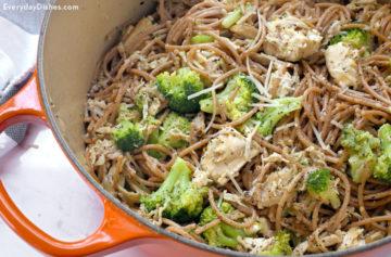 Leftover chicken and broccoli pasta recipe video