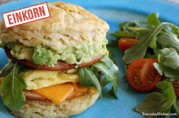 Einkorn biscuit breakfast sandwich recipe