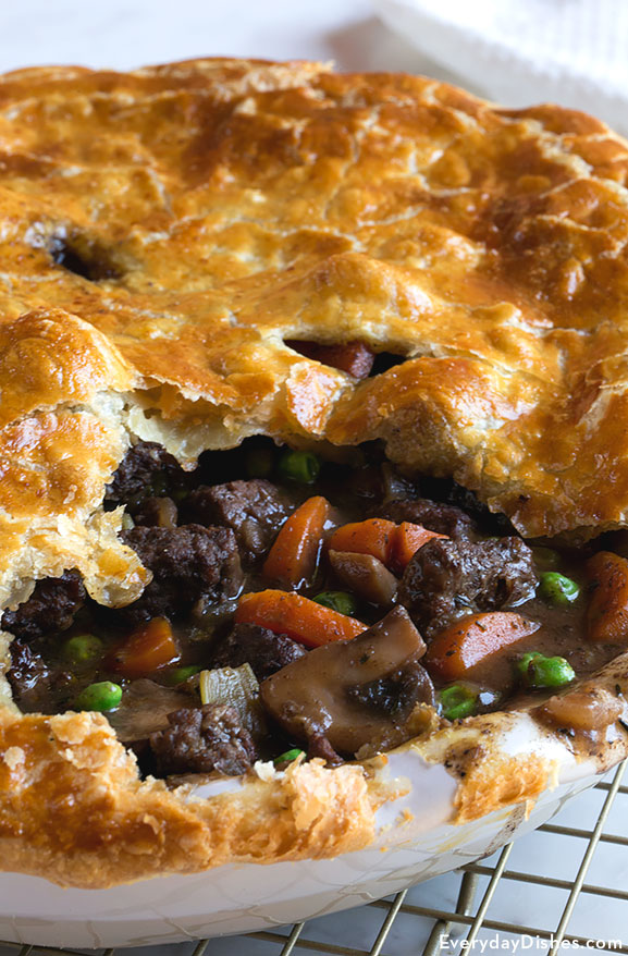 Steak and mushroom pot pie recipe