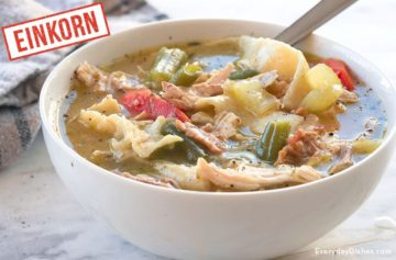 Hearty Einkorn Chicken Noodle Soup Recipe Video