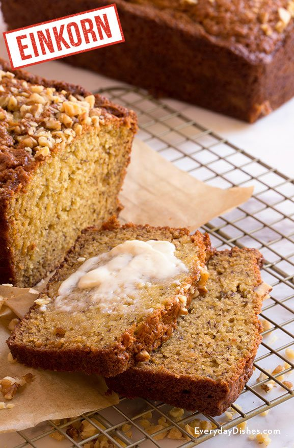 Super Moist Einkorn Banana Bread