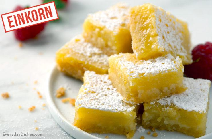 Einkorn Lemon Bars Recipe