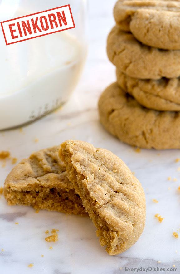 Einkorn Peanut Butter Cookies Recipe
