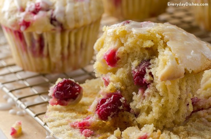 Lemon Cranberry Einkorn Muffins Recipe