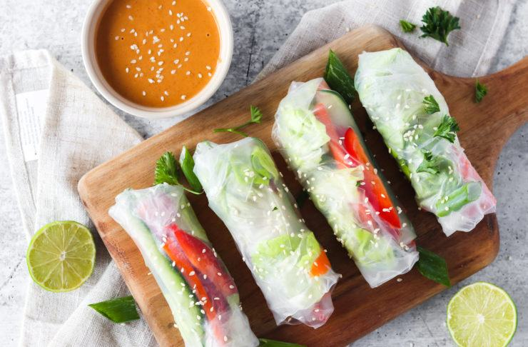 are spring rolls vegan