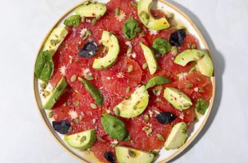 Avocado and Basil Salad with Grapefruit