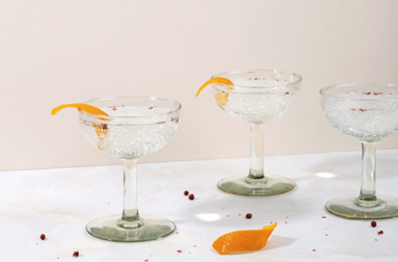 Orange Pepper Vermouth Tonic Cocktail