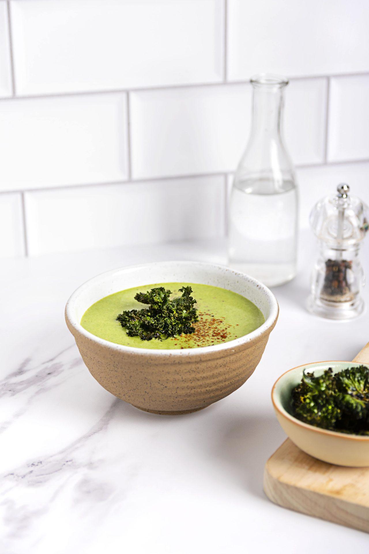 Delicious Potato Leek Kale Soup Vegan Recipe